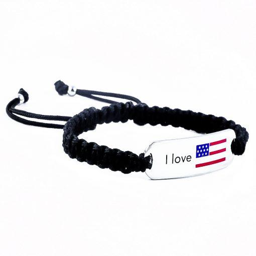 USA Flag Bracelet - Flags Jewellery Right