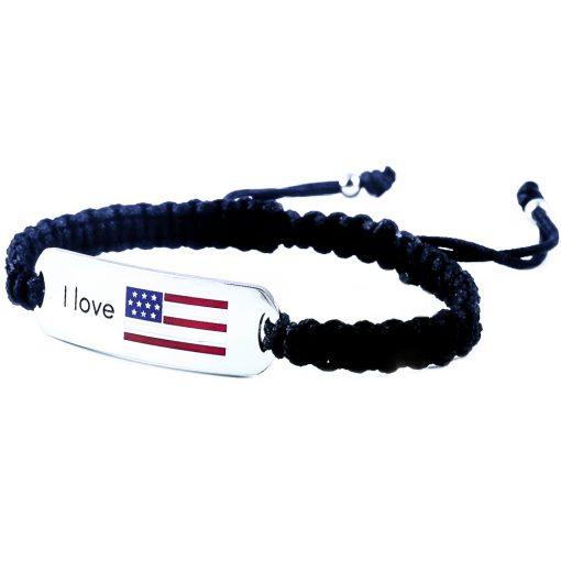 USA Flag Bracelet - Flags Jewellery Left