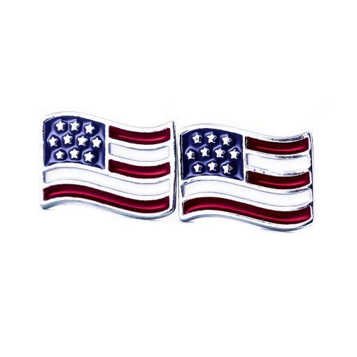 USA Flag Shape Earrings - Flags Jewellery