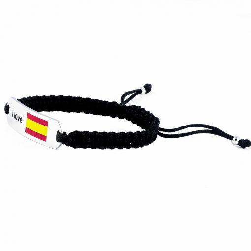 Spain Flag Bracelet - Flags Jewellery Left