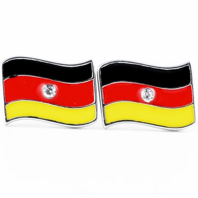 Germany Flag Shape Earrings - Flags Jewellery