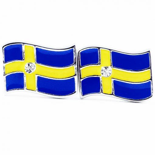 Sweden Flag Shape Earrings - Flags Jewellery
