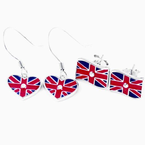 UK Flag Shape Earrings - Flags Jewellery