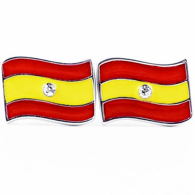 Spain Flag Shape Earrings - Flags Jewellery