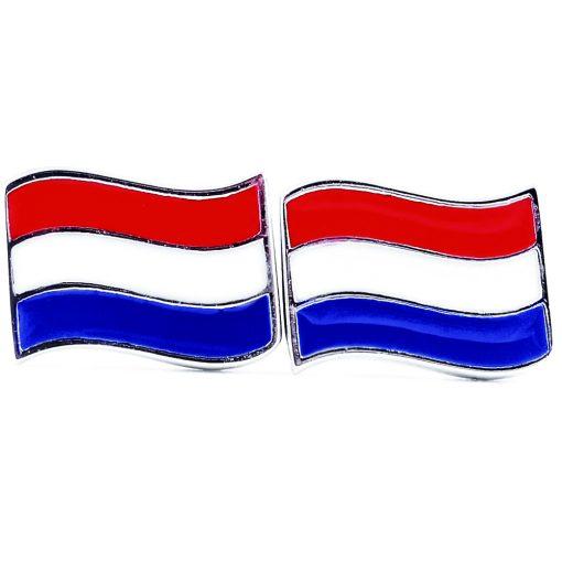 Netherlands Flag Shape Earrings - Flags Jewellery