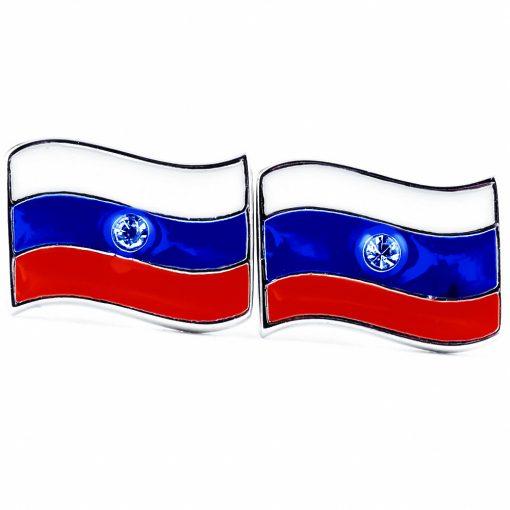 Russia Flag Shape Earrings - Flags Jewellery