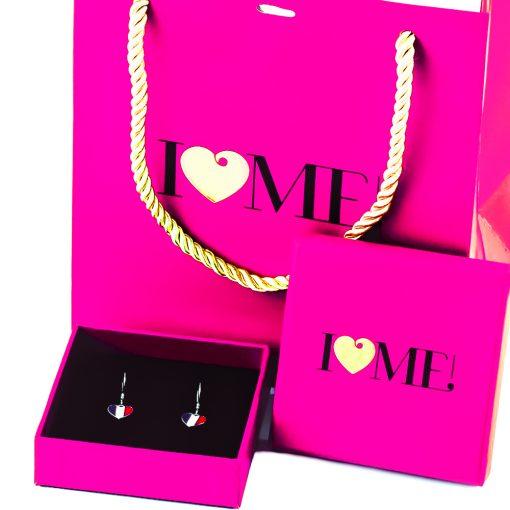 France Flag Heart Dangle Earrings - Flags Jewellery Box