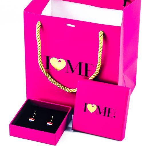 Netherlands Flag Heart Dangle Earrings - Flags Jewellery Box